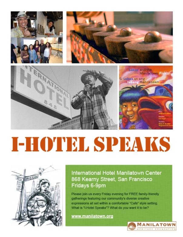 I-Hotel Speaks Flyer
