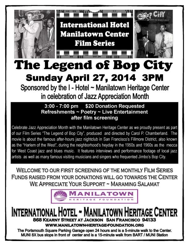 MHF Bop City Flyer_film series