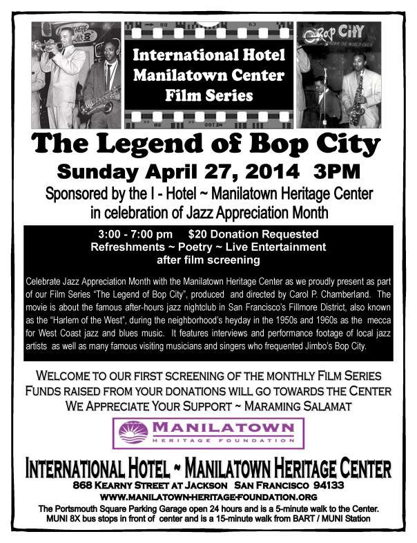 MHF Bop City Flyer_film series