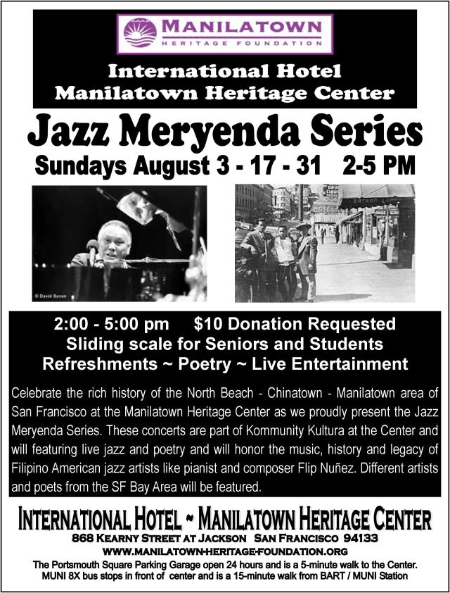 MHF Jazz Meryenda 8 x 11 flyer